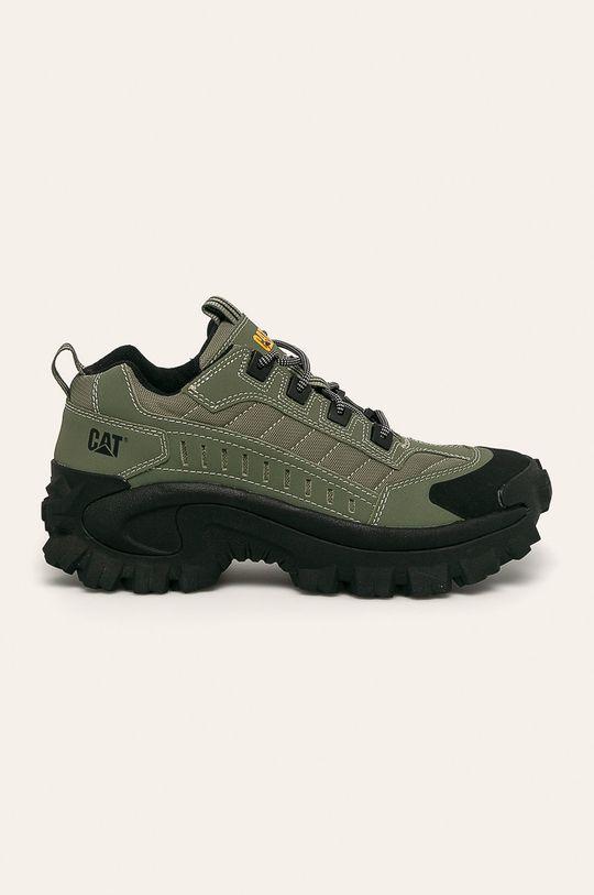 vojenská zelená Caterpillar - Topánky Pánsky