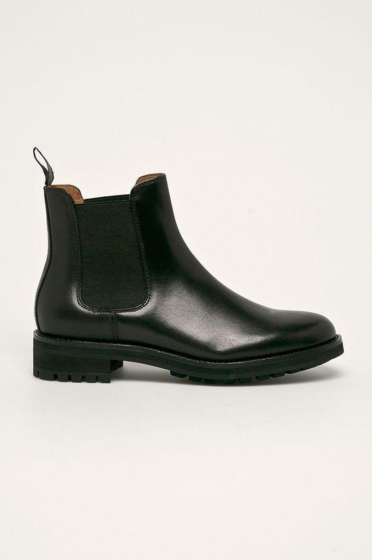 černá Polo Ralph Lauren - Kožené boty s gumou Pánský
