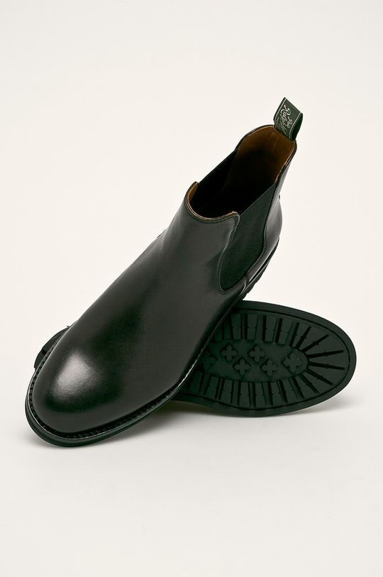 černá Polo Ralph Lauren - Kožené boty s gumou