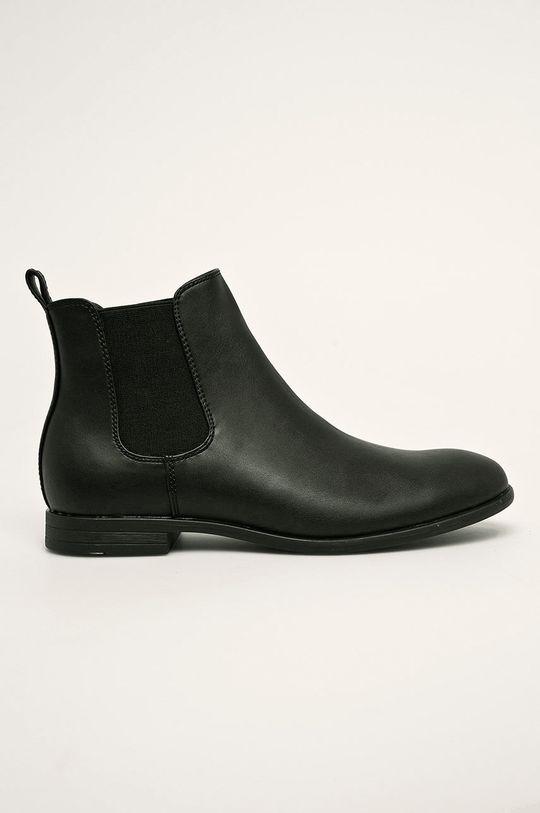 čierna Jack & Jones - Topánky Chelsea Pánsky