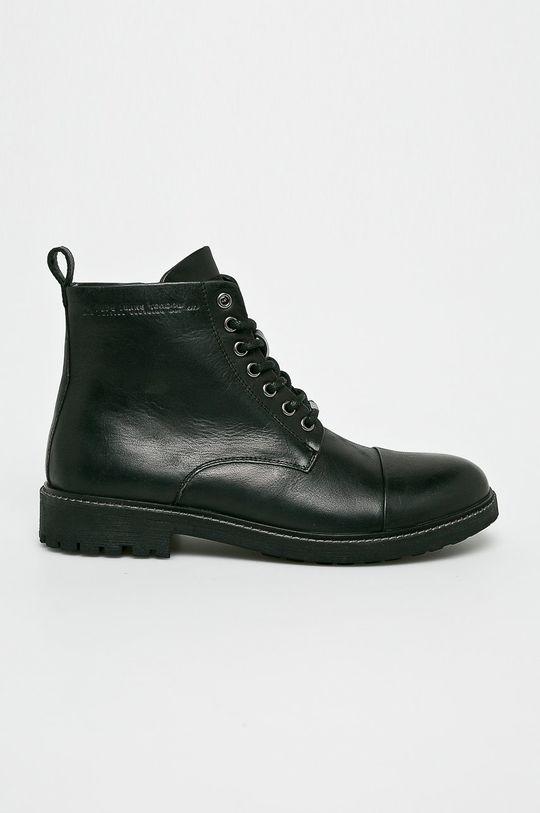 černá Pepe Jeans - Kotníkové boty Pánský