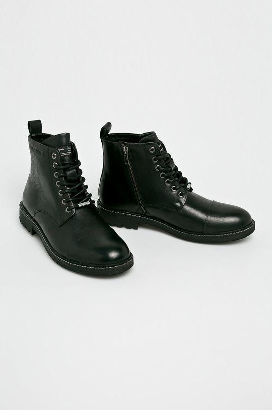 Pepe Jeans - Kotníkové boty černá