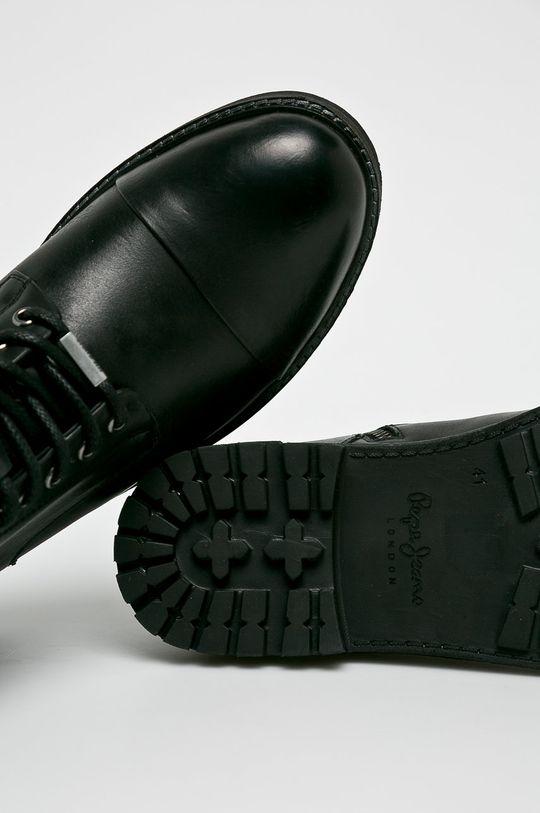 černá Pepe Jeans - Kotníkové boty