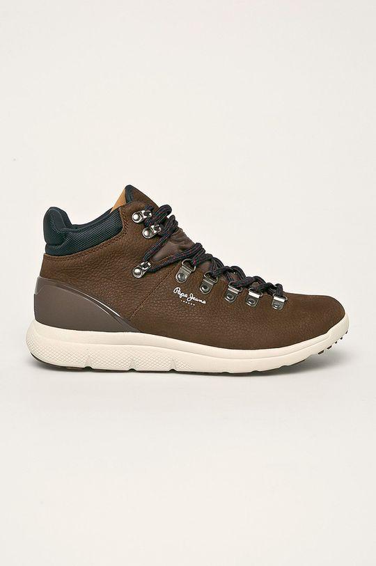 hnedá Pepe Jeans - Topánky Hike Leather Pánsky