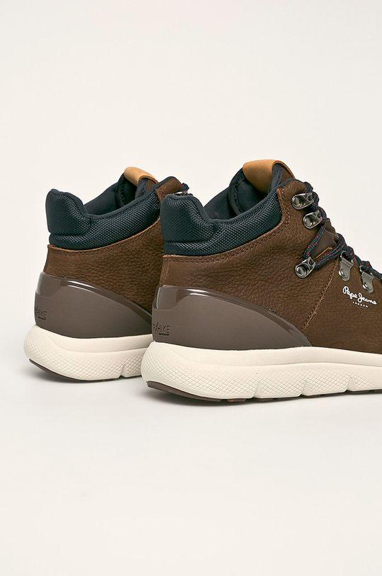 Pepe Jeans - Topánky Hike Leather  Zvršok: Textil, Prírodná koža Vnútro: Textil Podrážka: Syntetická látka