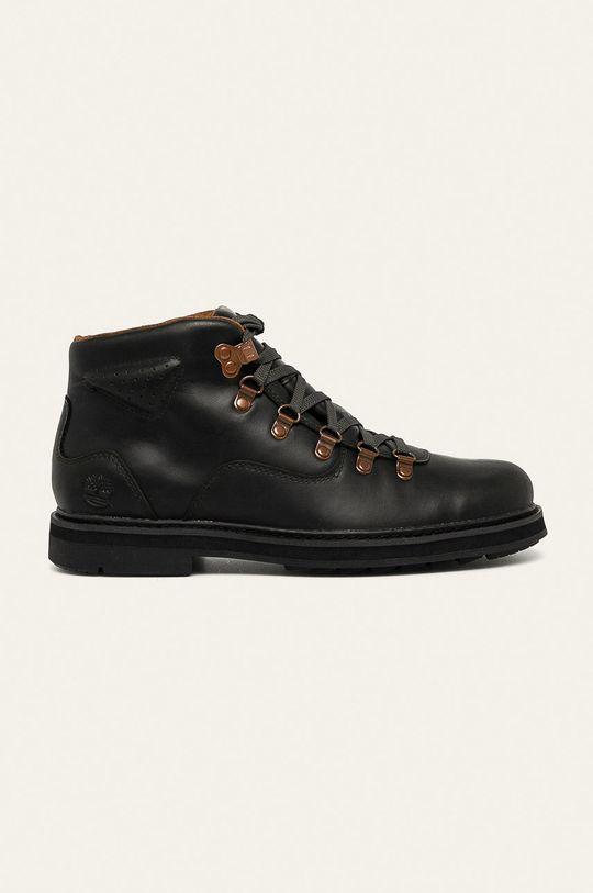 čierna Timberland - Kožená obuv Squall Canyon Pánsky