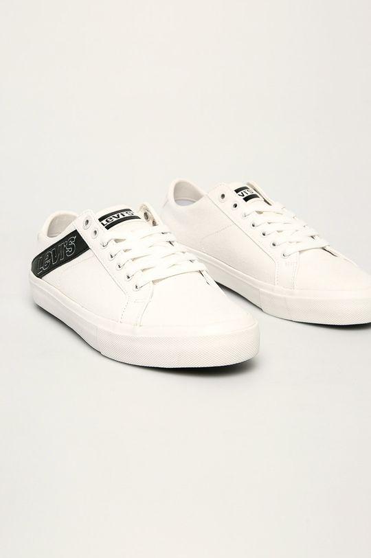 Levi's - Обувки Woodward бял