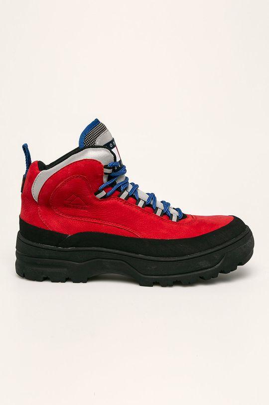 červená Tommy Jeans - Topánky Pánsky