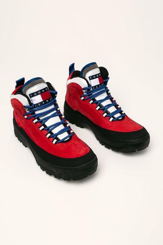 Tommy Jeans - Topánky červená