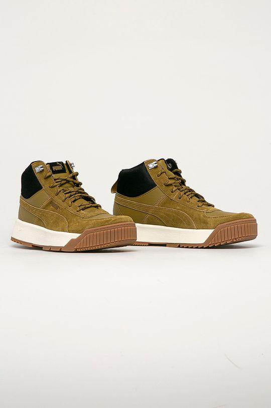 Puma - Kožené boty Tarrenz olivová