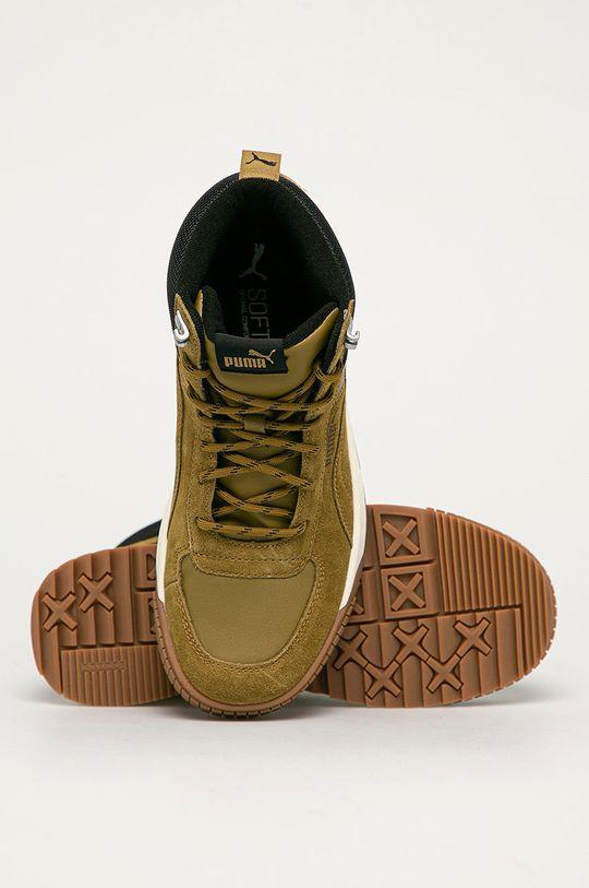 olivová Puma - Kožené boty Tarrenz