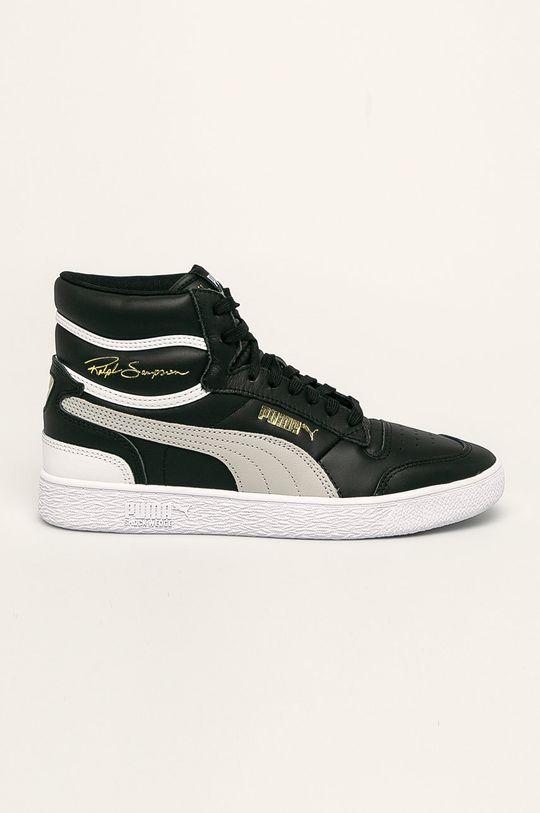 čierna Puma - Topánky Ralph Sampson Mid Pánsky