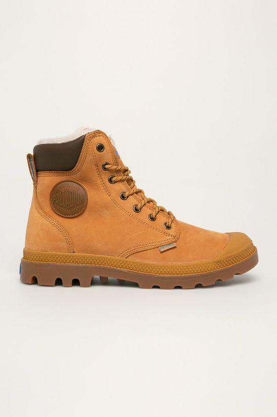 zlatohnědá Palladium - Kožené boty Pánský
