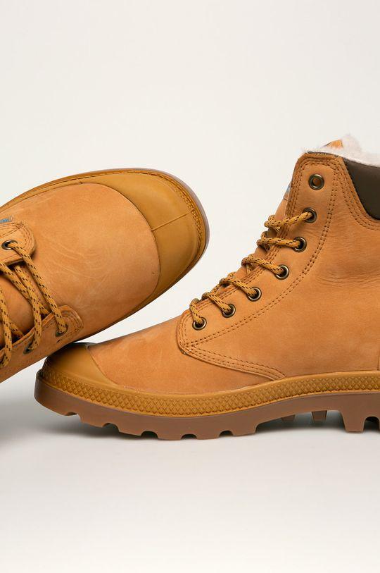 zlatohnědá Palladium - Kožené boty