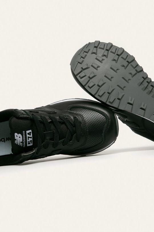 čierna New Balance - Topánky ML574SNR