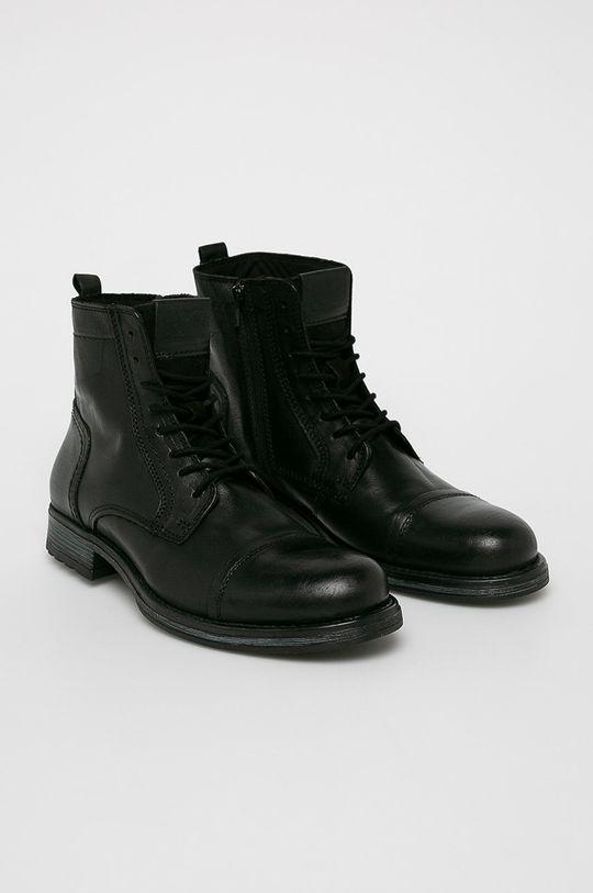 Jack & Jones - Kotníkové boty černá