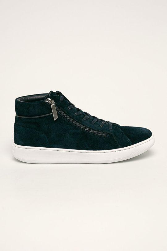 námořnická modř Calvin Klein - Kožené boty Pánský