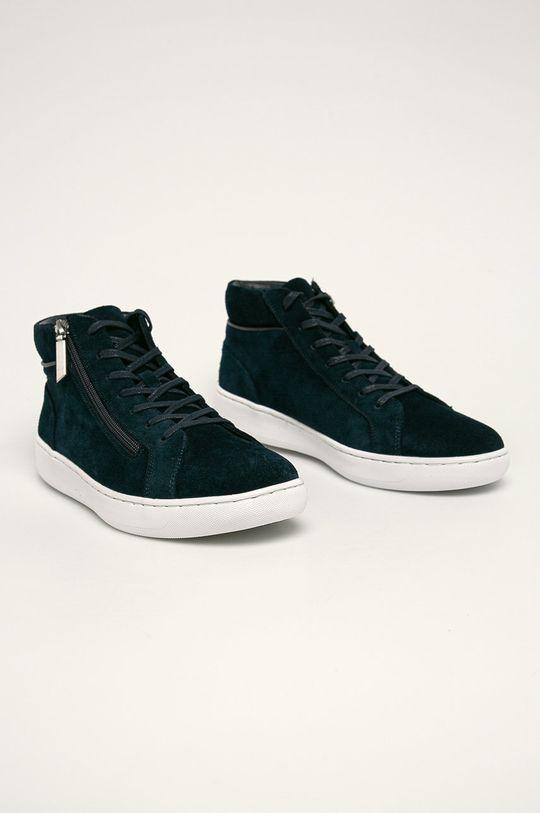 Calvin Klein - Kožené boty námořnická modř