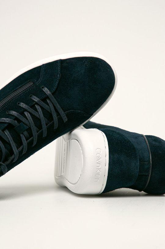 námořnická modř Calvin Klein - Kožené boty
