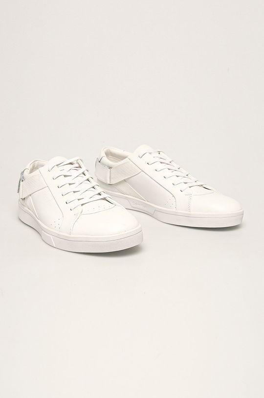 Calvin Klein - Kožená obuv biela