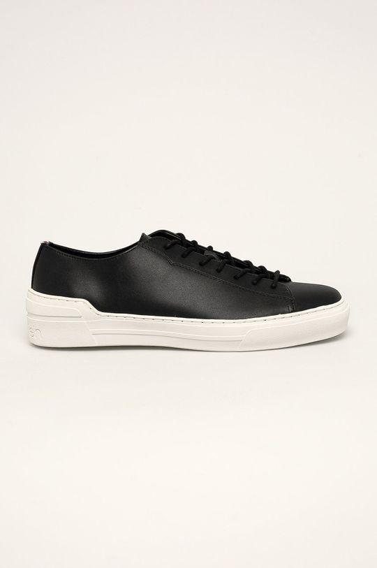 černá Calvin Klein - Kožené boty Pánský