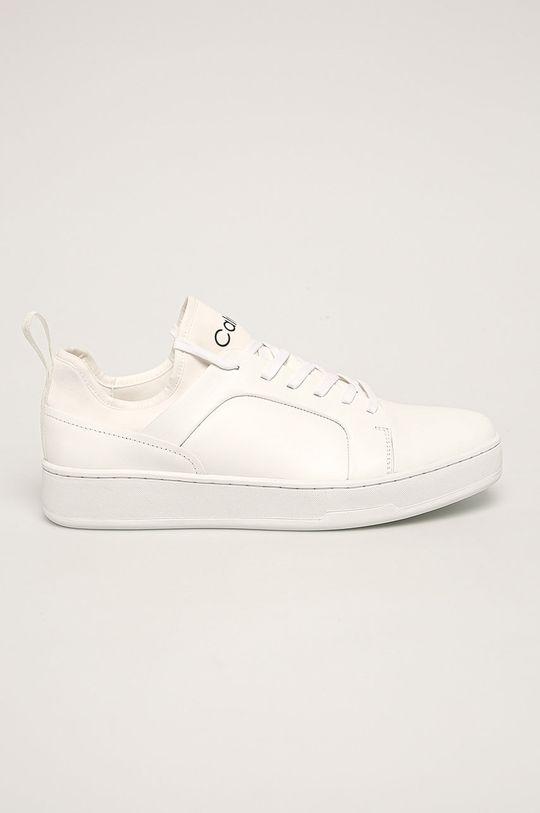 bílá Calvin Klein - Kožené boty Pánský