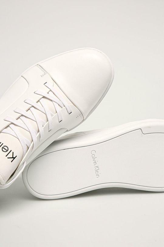 bílá Calvin Klein - Kožené boty