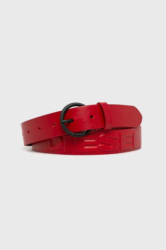červená Diesel - Kožený pásek Dámský