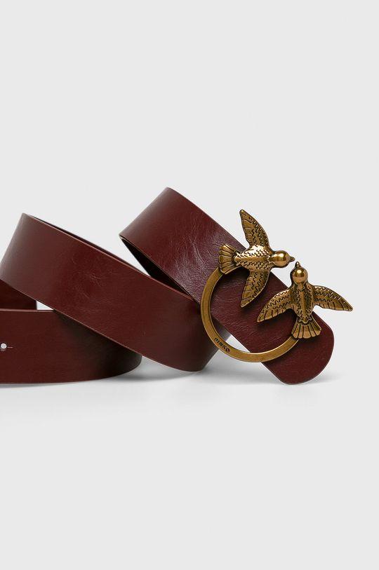 Pinko - Kožený pásek červená