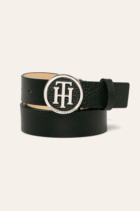 čierna Tommy Hilfiger - Kožený opasok Dámsky