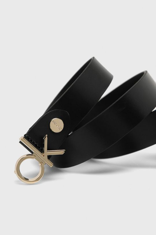 Calvin Klein - Kožený pásek černá