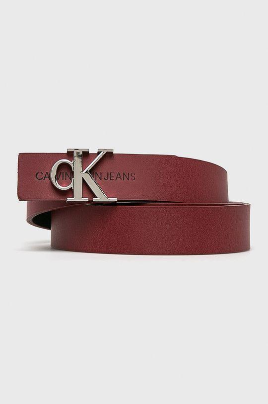 červená Calvin Klein Jeans - Kožený pásek Dámský