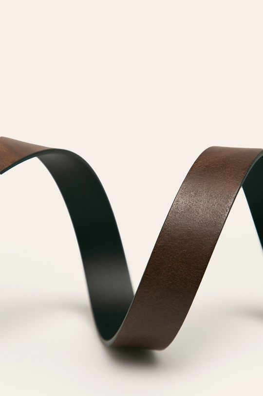 Levi's - Obojstranný kožený opasok hnedá
