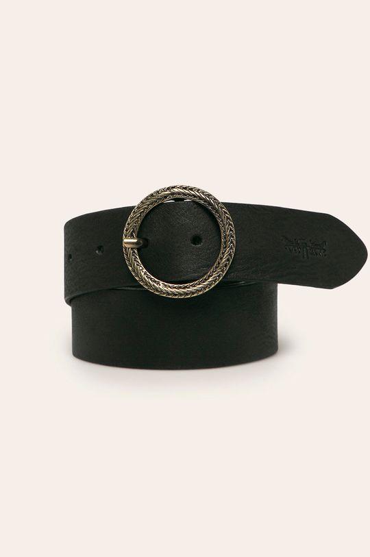 čierna Levi's - Kožený opasok Dámsky