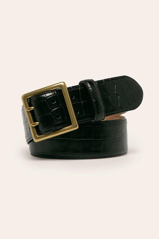 czarny Polo Ralph Lauren - Pasek skórzany Damski