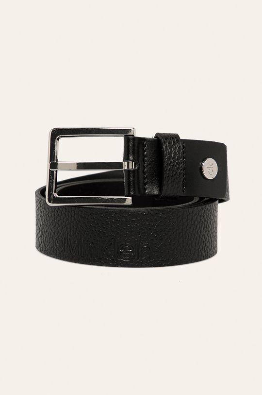 černá Calvin Klein - Kožený pásek Pánský