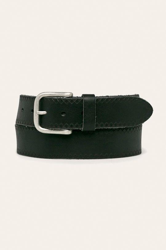 černá Pepe Jeans - Kožený pásek Pánský