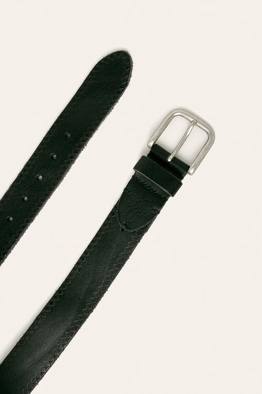 Pepe Jeans - Kožený pásek černá