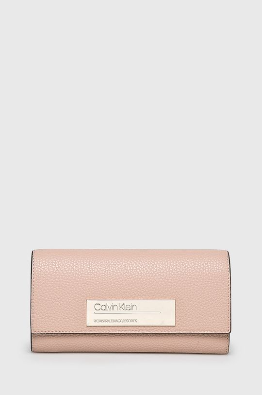 pastelově růžová Calvin Klein - Peněženka Dámský