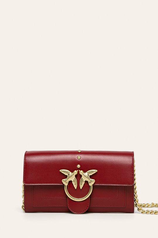 červená Pinko - Kožená kabelka Dámsky