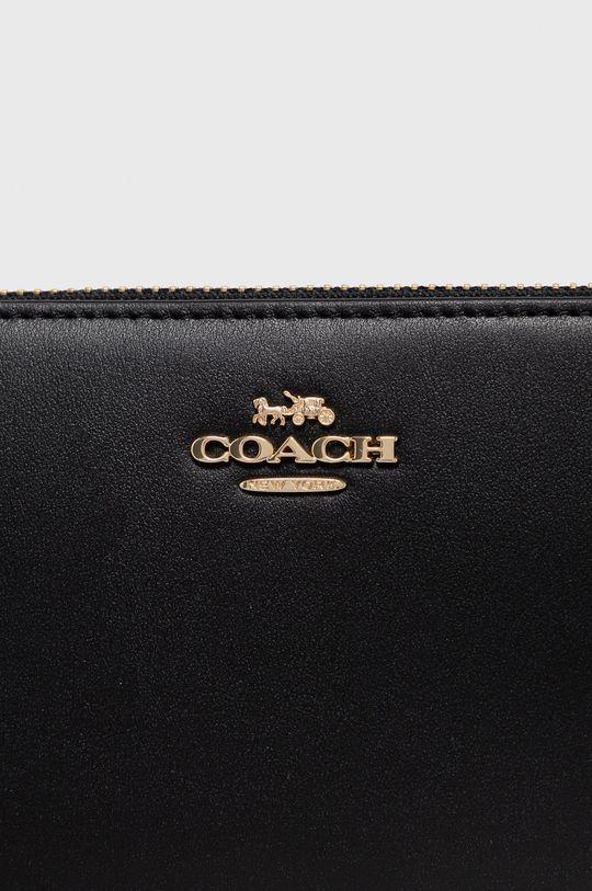 czarny Coach - Portfel skórzany