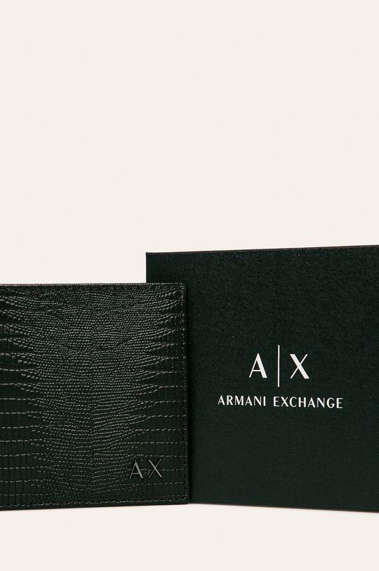 čierna Armani Exchange - Kožená peňaženka