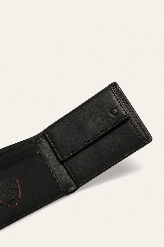Strellson - Kožená peněženka tmavě hnědá