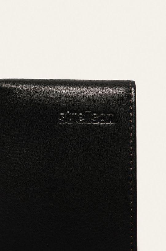 tmavě hnědá Strellson - Kožená peněženka