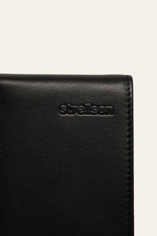 czarny Strellson - Portfel skórzany