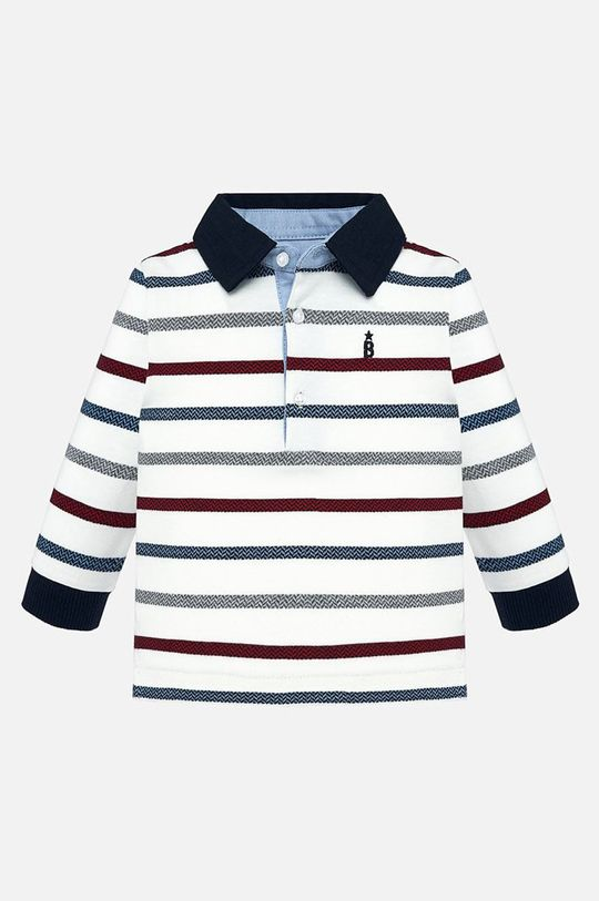 бял Mayoral - Детска риза с дълги ръкави 68-92 cm Момче