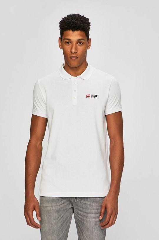 bílá Diesel - Polo tričko Pánský