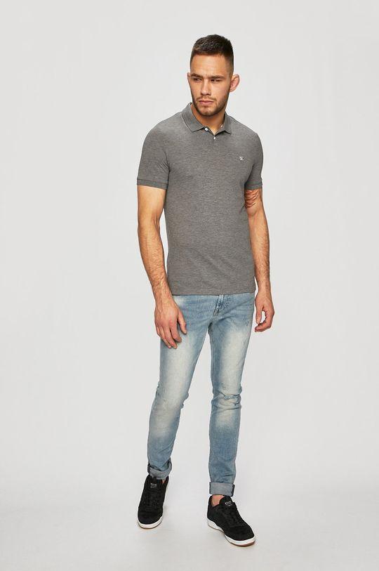 Calvin Klein Jeans - Polo tričko šedá