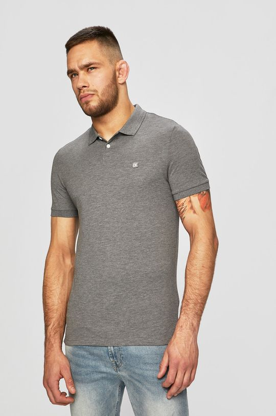 šedá Calvin Klein Jeans - Polo tričko