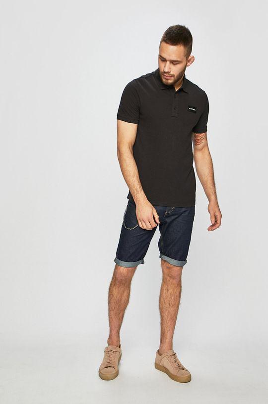 Calvin Klein - Polo tričko černá
